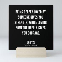 1  | Lao Tzu Quotes | Inspirational Quotes | Motivational Quotes Mini Art Print