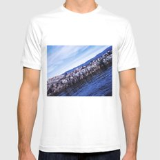 Seals and sea lions. Mens Fitted Tee MEDIUM White
