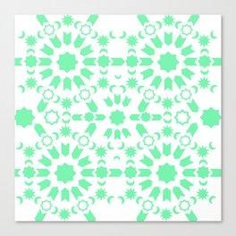 Mint Arabesque Canvas Print