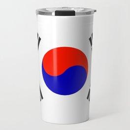 South Korean Flag Logo Travel Mug