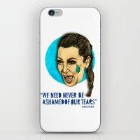 kardashian iPhone & iPod Skins featuring Ugly Cry: Kim Kardashian Edition.  by Amelia Jude