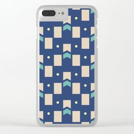 Art Deco Geometric Pattern 272 Clear iPhone Case