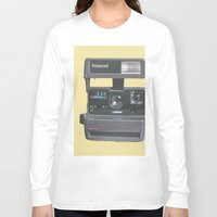 polaroid Long Sleeve T-shirts featuring Polaroid  by Dora Birgis