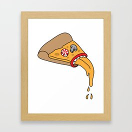 pizza puke Framed Art Print