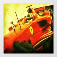 formula 1 Canvas Prints featuring Formula 1 team Ferrari by frenchtoy