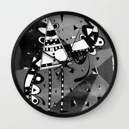 Sir Triangle Black Wall Clock