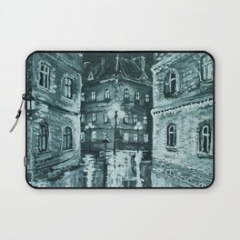 old town at night Laptop Sleeve