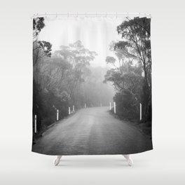 Mount Wellington Misty Road Shower Curtain