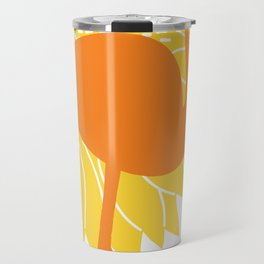 Colorful Flamingos Travel Mug
