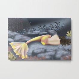 Sleeping Mermaid Metal Print