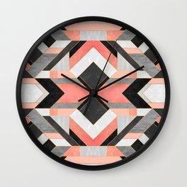 Peach Deco 1 Wall Clock