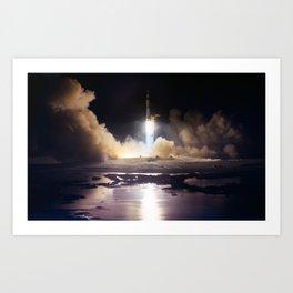 Apollo 17 - Night Launch Art Print