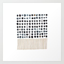 Dots and Stripes Art Print