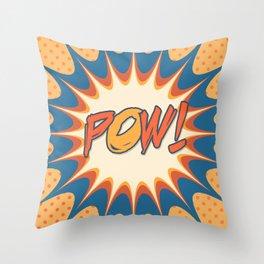 POW! Polka Dot Vintage Graphic Novel Art Throw Pillow