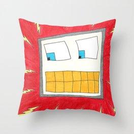 Shocking Robot Throw Pillow