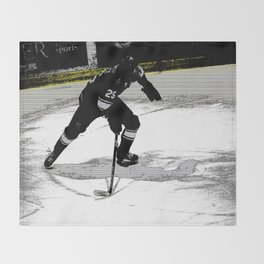 On the Move - Hockey Player Throw Blanket