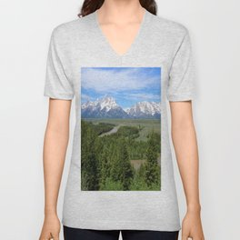 Snake River And The Grand Tetons Unisex V-Neck