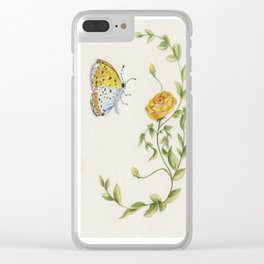 The Rose and the Butterfly Clear iPhone Case
