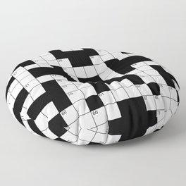 Cool Crossword Pattern Floor Pillow