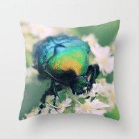 bug Throw Pillows featuring Bug by Falko Follert Art-FF77