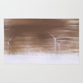 Ghostly wind turbines Rug