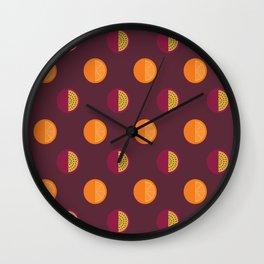 Orange & Passionfruit Wall Clock