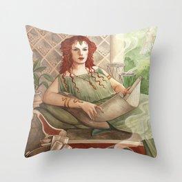 Cornelia - A Compendium of Witches Throw Pillow