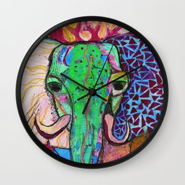 Elephant of Power Wall Clock