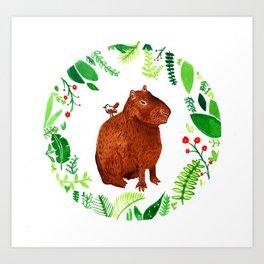 Colin the capybara Art Print