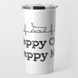 Happy cat, Happy me Travel Mug