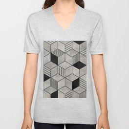 Concrete Cubes 2 Unisex V-Neck
