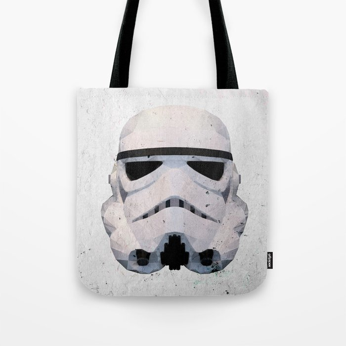 Stormtrooper Low Poly Tote Bag