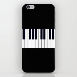 Piano Keys - Black and white simple piano keys pattern minimalistic music themed artwork iPhone Skin