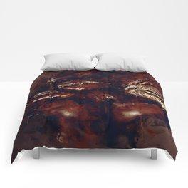 big coffee beans splatter watercolor Comforters