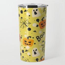 Happy halloween pumkins, webs, ghosts and boos pattern Travel Mug