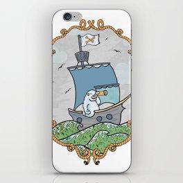 Sailing pirate yeti iPhone Skin