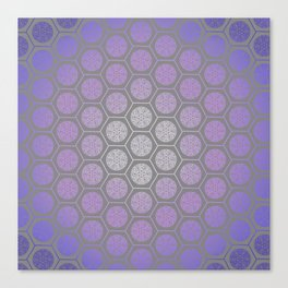 Hexagonal Dreams - Purple Blue Gradient Canvas Print