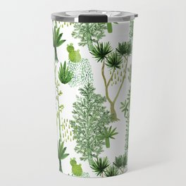 Green jungle pattern Travel Mug