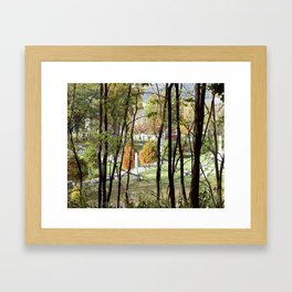 Beautiful Autumn Day at Allegheny Cemetery, Pittsburgh, Pennyslvania Framed Art Print
