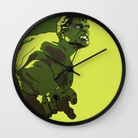 hulk Wall Clocks featuring Hulk by iankingart