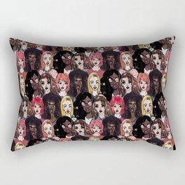 pretty girls Rectangular Pillow