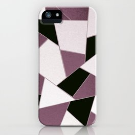 Mauve Black Geometric Glam #1 #geo #decor #art #society6 iPhone Case