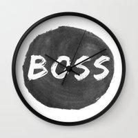 boss Wall Clocks featuring Boss by autumnstar09