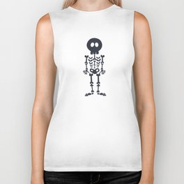 Pattern #8: Skeletons + Buttons Biker Tank