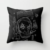 lincoln Throw Pillows featuring Abraham Lincoln by Maioriz Home