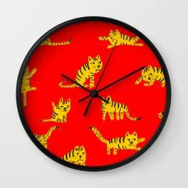 Tigrrrrs Wall Clock