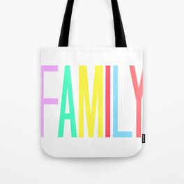 FAMILY bright colors 8x10 Tote Bag