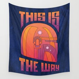 """Retro Mando - Orange Sunset"" by Berlin Michelle Wall Tapestry"
