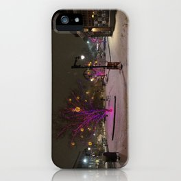 Longfellow Square Christmas Lights (3) iPhone Case