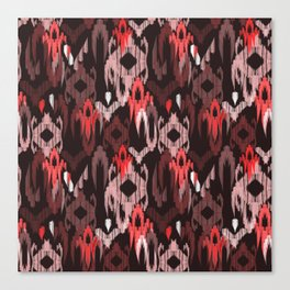 Weaving ikat in red Canvas Print